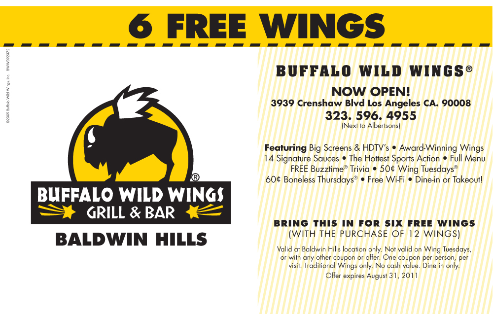 Buffalo wild wings coupon code