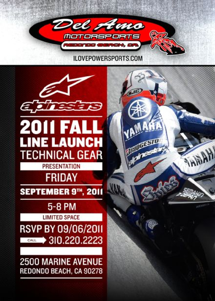 Alpinestars Fall 2011 Line Launch at Del Amo Motorsports, Friday, Sept 9th