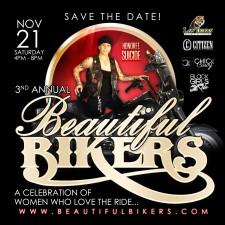 3rd Annual Beautiful Bikers Celebration Saturday, Nov 21, 2015