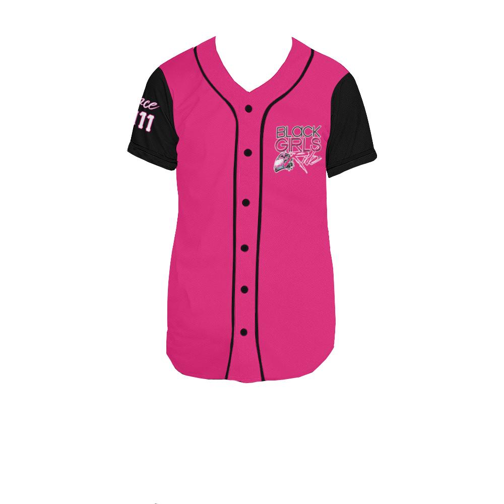 black baseball jersey